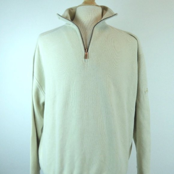 Vintage Tommy Bahama Half Zipper Pullover Sweater  Size XL